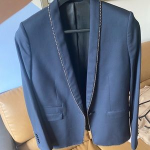 The Kooples Blazer Stretch Smocking Sz 38 NWT
